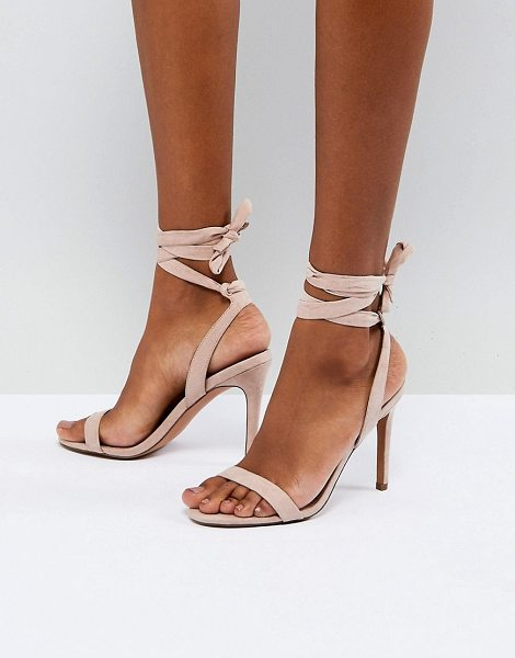 Asos Hatty barely there heeled sandals in nude - Heels by ASOS DESIGN, High heels, Serious sass included,...