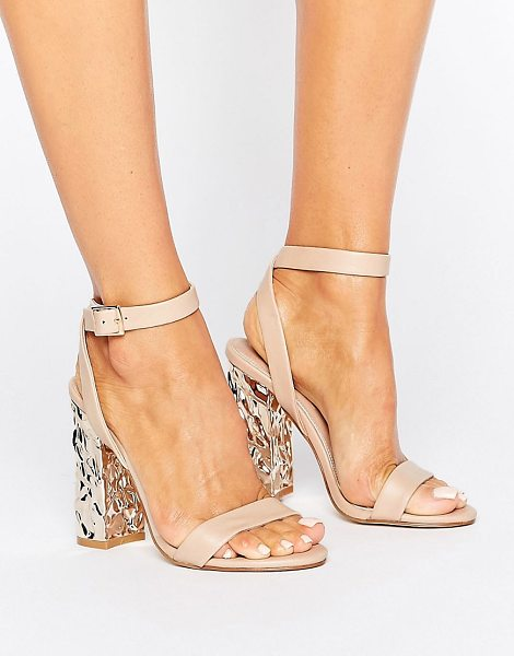 Asos HAZARD Heeled Sandals in beige