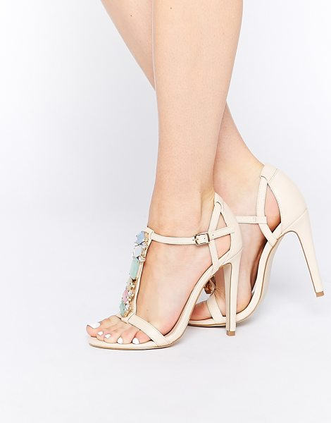 ASOS Heat of the moment heeled sandals - Heels by ASOS Collection Smooth, leather-look upper...