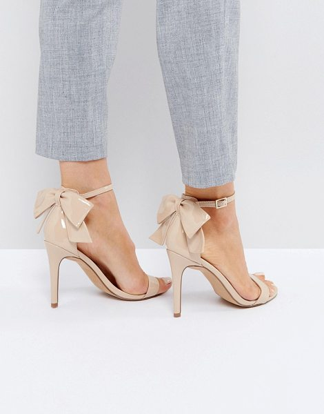"Asos HEATWAVE Barely There Heeled Sandals in nude - """"Sandals by ASOS Collection, Patent faux-leather upper,..."