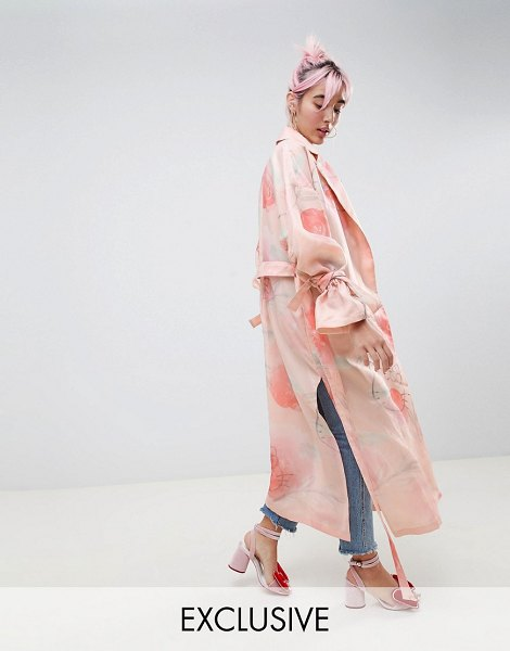 ASOS DESIGN hello kitty x  trench duster coat in pink - Coat by ASOS DESIGN, We designed this in collaboration...