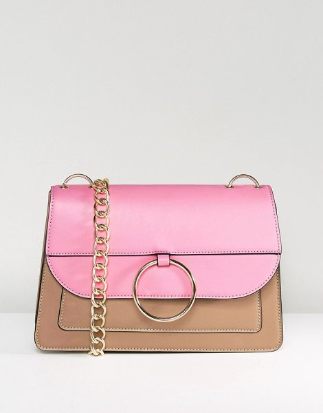 "ASOS HERO Dropped Hoop Chain Shoulder Bag - """"Bag by ASOS Collection, Faux leather outer, Fully..."