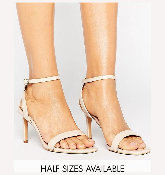 """Asos HIDEAWAY Heeled Sandals in nude - """"""""Sandals by ASOS Collection, Faux-leather upper, Patent..."""