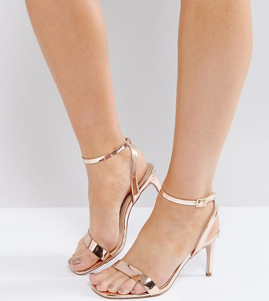 """ASOS HIDEAWAY Wide Fit Heeled Sandals - """"""""Sandals by ASOS Collection, Faux-leather upper,..."""