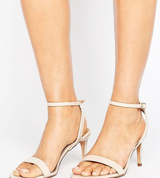 Asos HIDEAWAY Wide Fit Heeled Sandals in beige