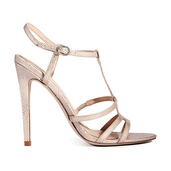 Asos Hierarchy heeled sandals in beige - Heels by ASOS Collection, Leather-look upper, Textured...