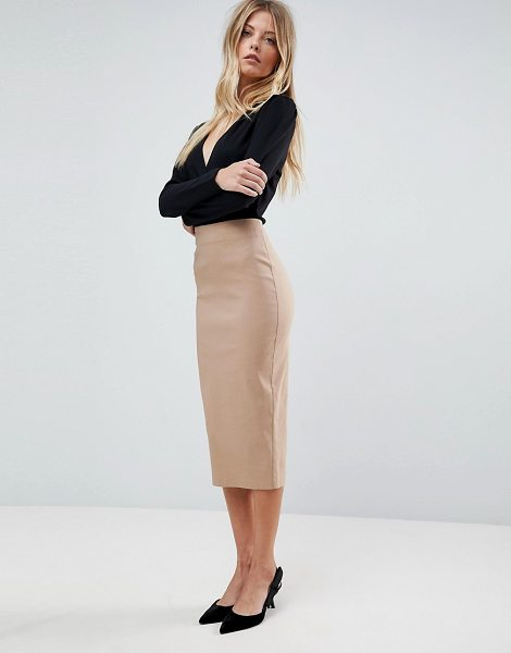 ASOS High Waist Longerline Pencil Skirt - Pencil skirt by ASOS Collection, High-rise, Just like your...