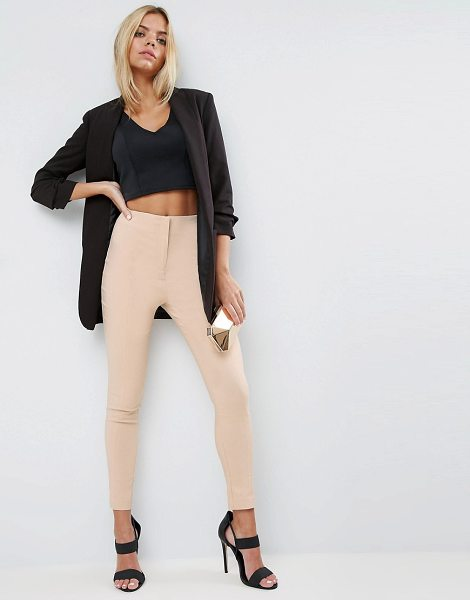 "Asos High Waist Pants In Skinny Fit in stone - """"Pants by ASOS Collection, Lightweight woven fabric,..."