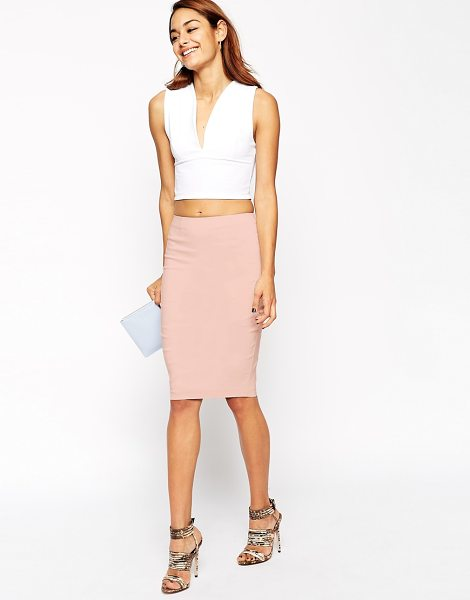 ASOS High Waisted Pencil Skirt - Pencil skirt by ASOS Collection, Crisp, woven fabric,...