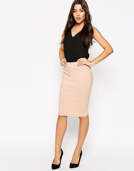 Asos High Waisted Pencil Skirt in pink - Skirt by ASOS Collection, Stretch fabric, High waist,...