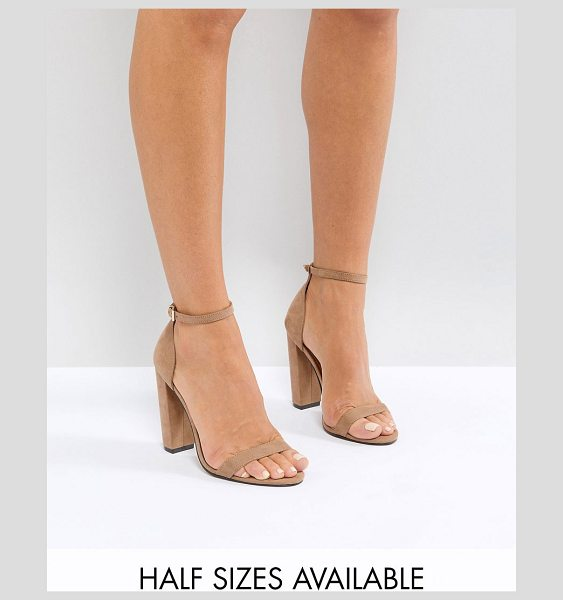 52b7852acfb ASOS DESIGN highball barely there block heeled sandals in nude - Sandals by  ASOS DESIGN