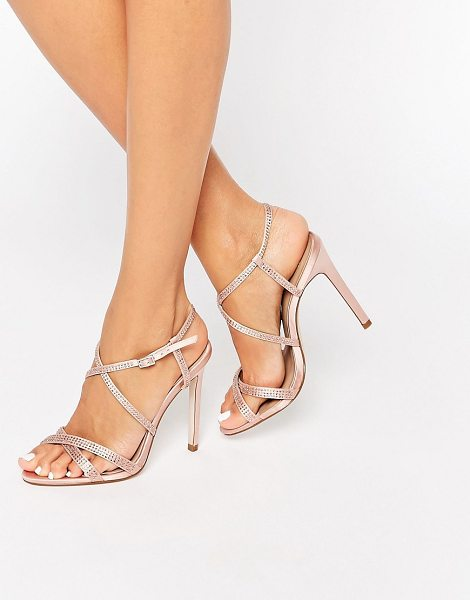 "ASOS HOUSTON Embellished Heeled Sandals - """"Sandals by ASOS Collection, Satin fabric upper,..."