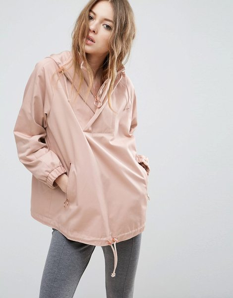 Asos Jacket With Hood And Ring Pull Detail in pink - Jacket by ASOS Collection, Smooth woven fabric,...