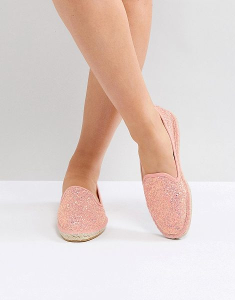 ASOS ASOS JANIE Espadrilles in peacheyglitter - Espadrilles by ASOS Collection, Who else is feeling that...