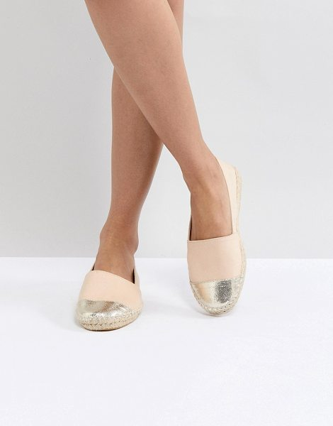 Asos JASLYNN Espadrilles in nudechampagne - Espadrilles by ASOS Collection, Canvas upper, Slip-on...