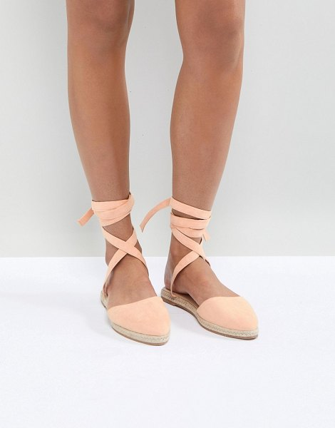 ASOS DESIGN jaynie two part espadrilles in apricot - Espadrilles by ASOS Collection, Plain style, Goes with...
