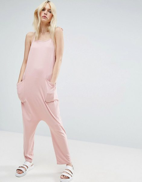 ASOS Jersey Minimal Jumpsuit with Ties - Jumpsuit by ASOS Collection, Soft-touch jersey, Scoop...