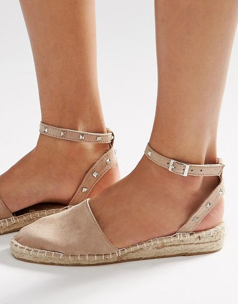 Asos JINX Studded Two Part Espadrilles in beige - Espadrilles by ASOS Collection, Faux-suede upper,...