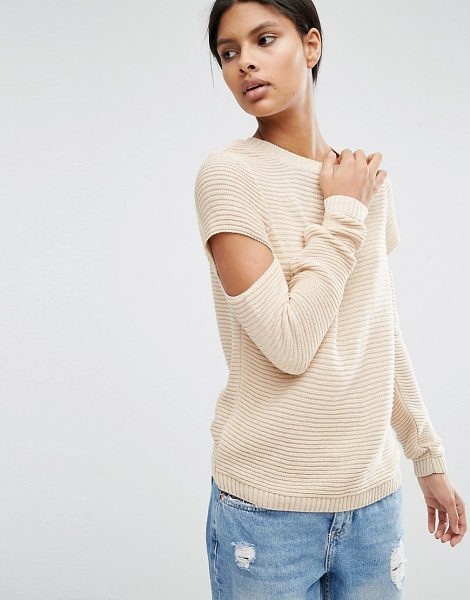 Asos Sweater in pink - Sweater by ASOS Collection, Ribbed chunky knit, Crew...
