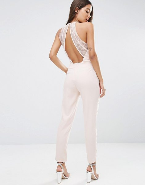 "Asos Jumpsuit with Lace Back Detail in pink - """"Jumpsuit by ASOS Collection, Stretch woven fabric,..."