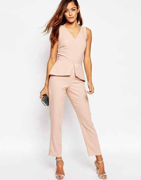 Asos Jumpsuit With Peplum Detail in pink - Jumpsuit by ASOS Collection, Smooth woven fabric,...