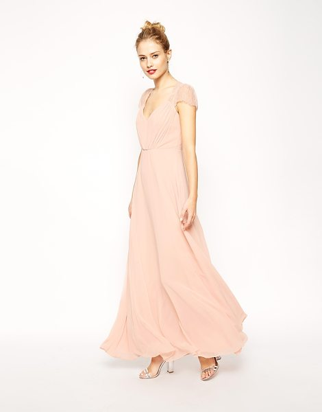 Asos Kate Lace Maxi Dress in pink - Maxi dress by ASOS Collection, Silky feel, semi-sheer...