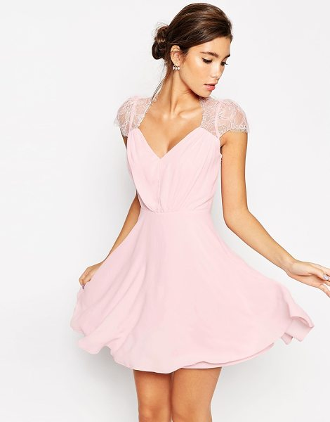 ASOS DESIGN kate lace mini dress in nude - Dress by ASOS Collection, Woven fabric, Lined main, Lace...