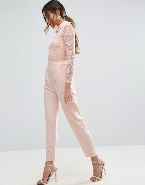 "ASOS Lace Collar Jumpsuit - """"Jumpsuit by ASOS Collection, Lined lace top, Sheer..."