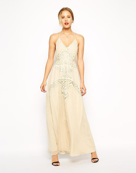 Asos Lace insert maxi dress in cream - Maxi dress by ASOS Collection Lightweight, woven fabric...