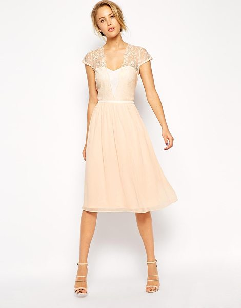 ASOS Scallop lace midi dress - Evening dress by ASOS Collection Lightweight woven...