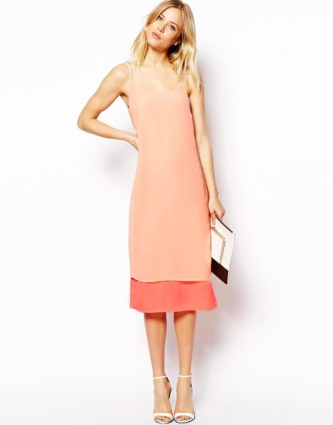 Asos Layered cami dress in pink - Machine Wash According To Instructions On Care Label....