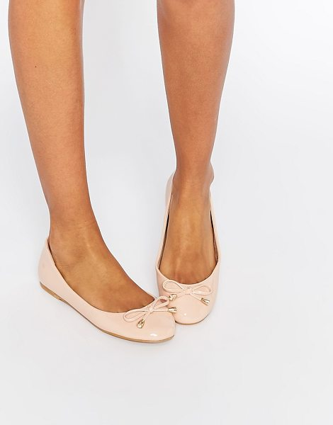 ASOS ASOS LEADER Ballet Flats in beige - Ballet pumps by ASOS Collection, Faux leather upper,...