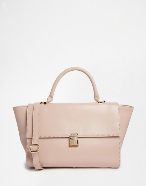 "Asos Leather Top Handle Bag in pink - """"Bag by ASOS Collection, Real leather outer, Contrast..."