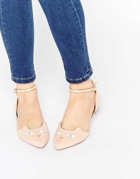 Asos Lexi ballet flats in nude - Flat shoes by ASOS Collection Suede look upper Pointed...