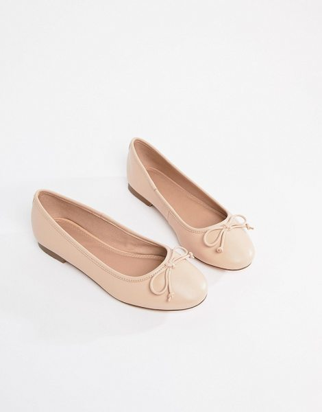 Asos LIFESAVER Leather Ballet Flats in nude - Flat shoes by ASOS Collection, No lessons required,...