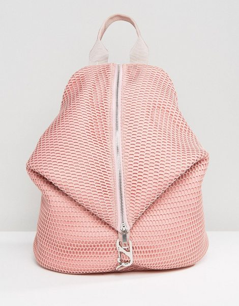 "Asos LIFESTYLE Mesh Dogclip Backpack in pink - """"Backpack by ASOS Collection, Textured outer, Mesh..."
