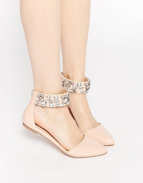 ASOS LIMELIGHT Embellished Pointed Ballet Flats - Flat shoes by ASOS Collection, Patent leather-look...