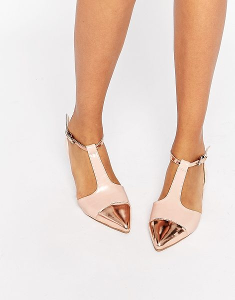 ASOS LINGO Pointed Ballet Flats - Ballet pumps by ASOS Collection, Leather-look upper,...