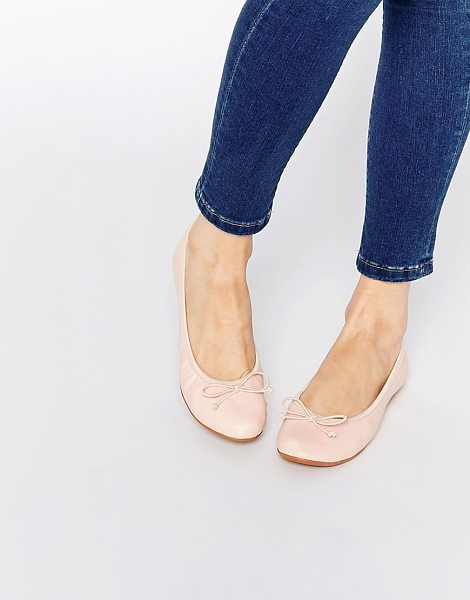 Asos LOGO Elasticated Ballet Flats in beige - Ballet pumps by ASOS Collection, Leather-look upper,...