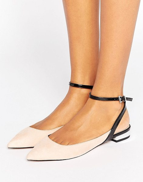 Asos LOLLIES Pointed Ballet Flats in beige - Flat shoes by ASOS Collection, Textile upper, Slim...