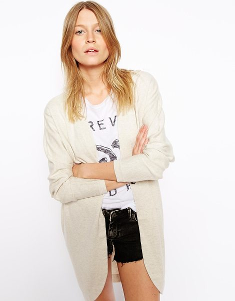 ASOS Longline cardigan in cocoon shape - Cardigan by ASOS Collection Made from 100% pure cotton...