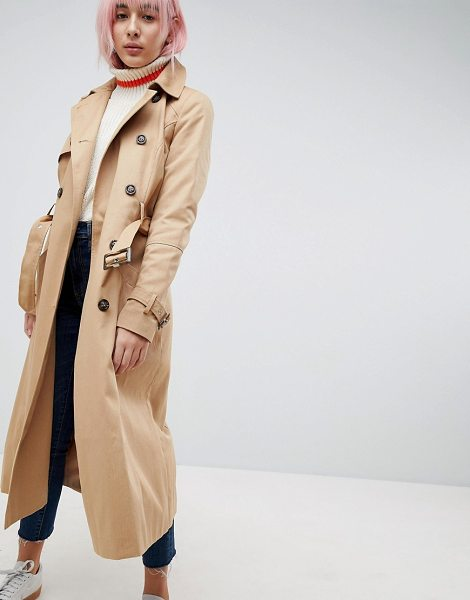 Asos longline classic trench coat in stone - Coat by ASOS DESIGN, So good, you won't want to take it...