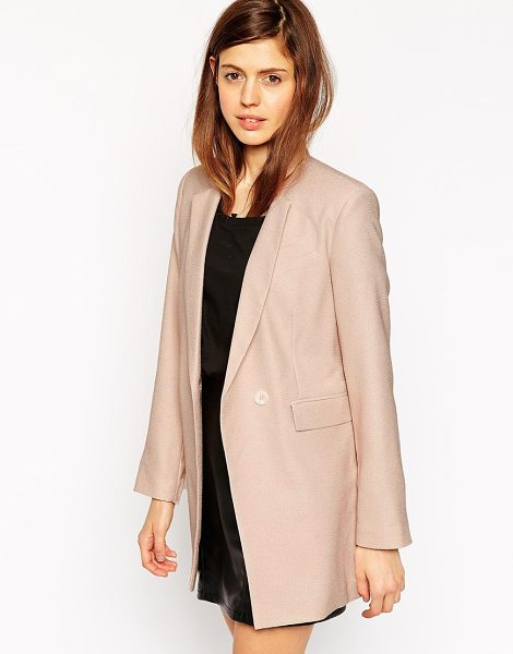 ASOS Longline textured suit blazer - Blazer by ASOS Collection Lightweight textured fabric...
