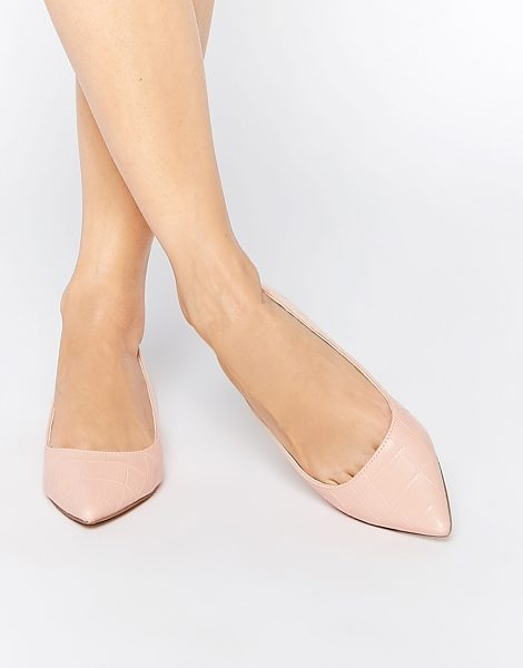 Asos LOST Pointed Ballet Flats in beige - Ballet pumps by ASOS Collection, Faux leather upper,...
