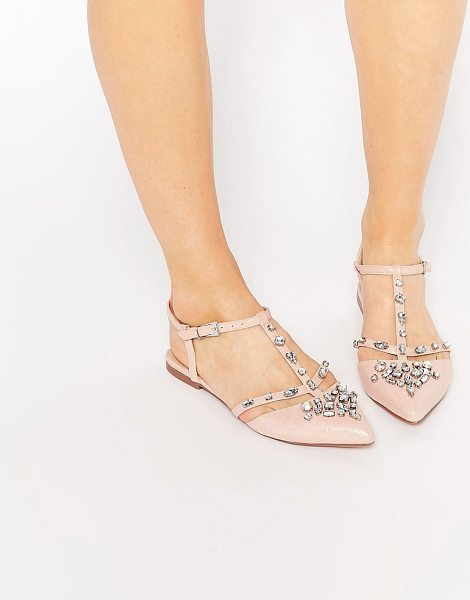 ASOS LOTUS Embellished Pointed Ballet Flats - Flat shoes by ASOS Collection, Faux-leather upper,...
