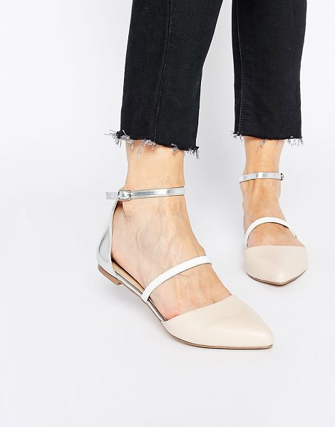 Asos ASOS LUNAR ECLIPSE Ballet Flats in beige - Ballet pumps by ASOS Collection, Smooth faux leather...