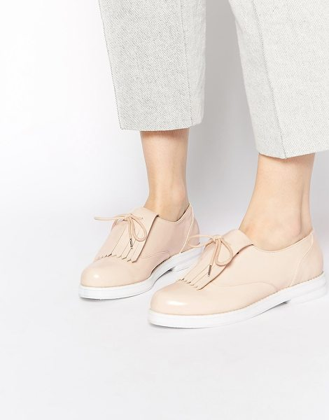 ASOS Madrid flat shoes - Shoes by ASOS Collection, Glossy, leather-look upper,...