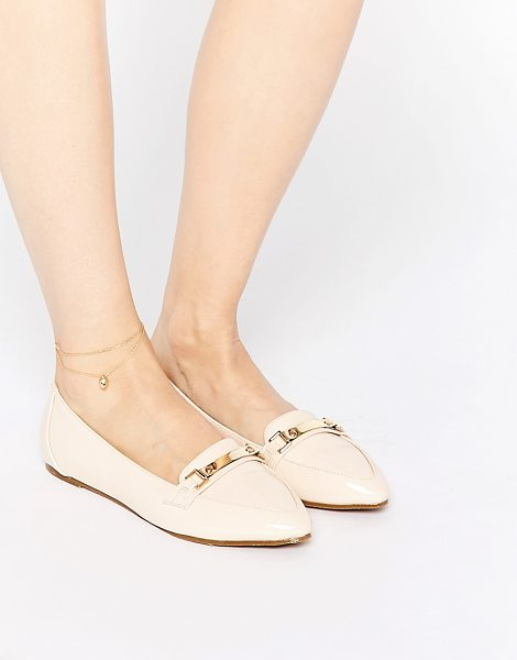 Asos Make a hit pointed flat shoes in nude - Shoes by ASOS Collection, Patent leather look upper,...