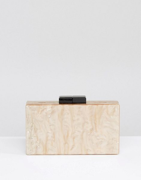 """Asos Marble Box Clutch Bag in gold - """"""""Clutch bag by ASOS Collection, Marbled outer, Optional..."""