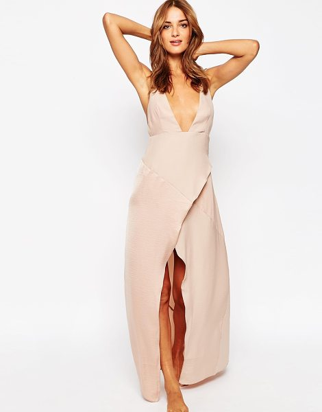 Asos Matte & Shine Maxi Slip in gold - Slip dress by ASOS Collection, Soft-touch woven fabric,...